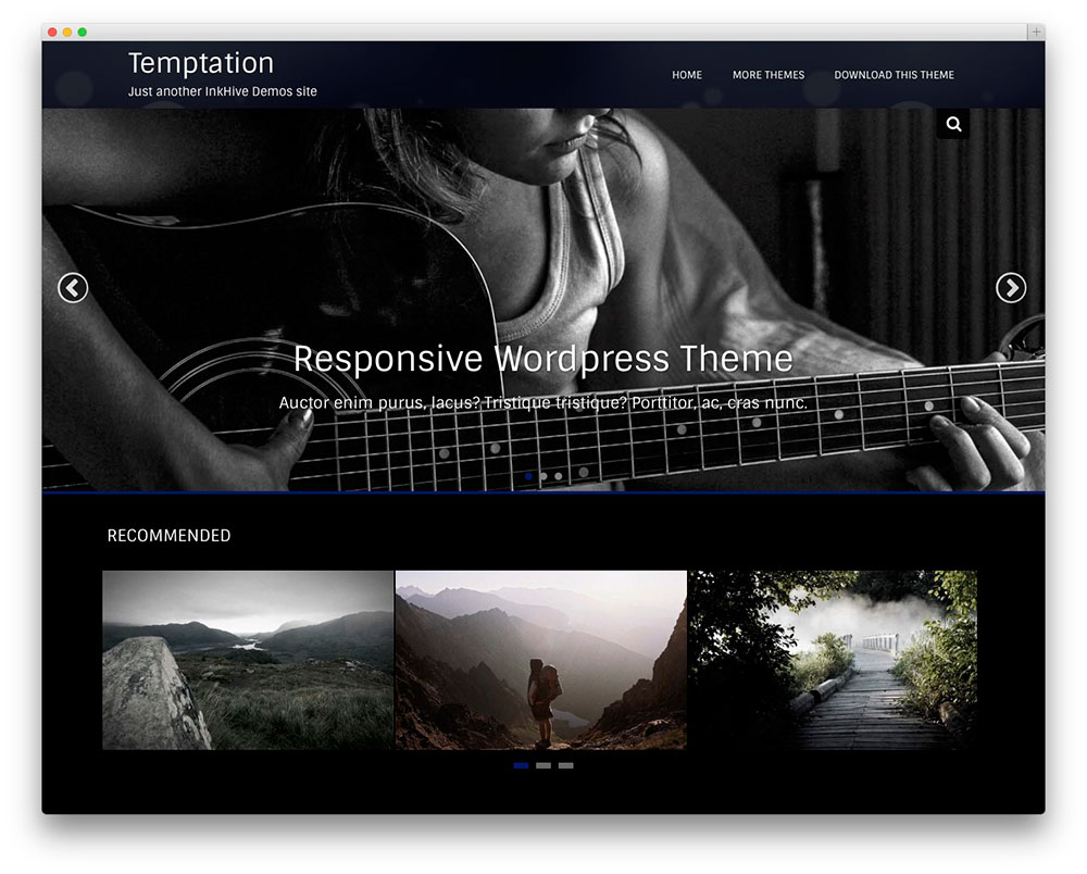 30 free responsive photography wordpress themes 2017 colorlib temptation photo portfolio pronofoot35fo Images