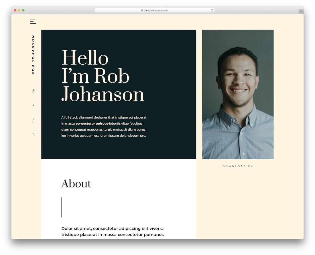 teoro vcard wordpress theme