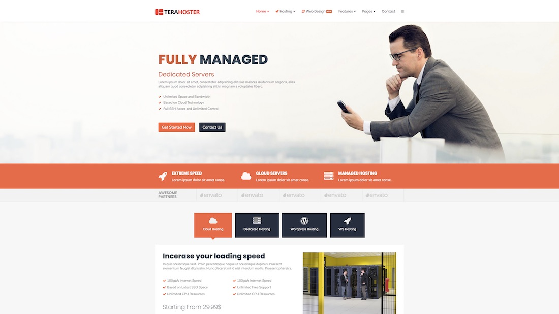 terahoster professional website template