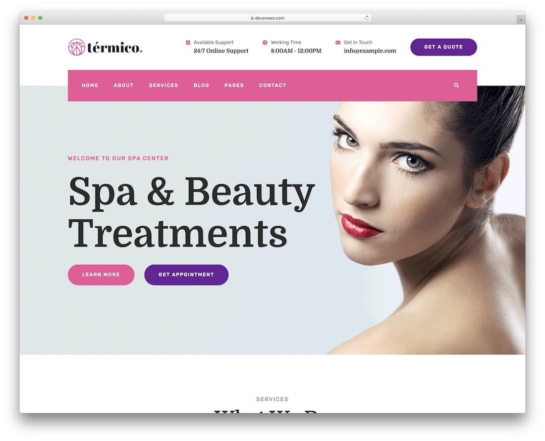 termico makeup artist wordpress theme