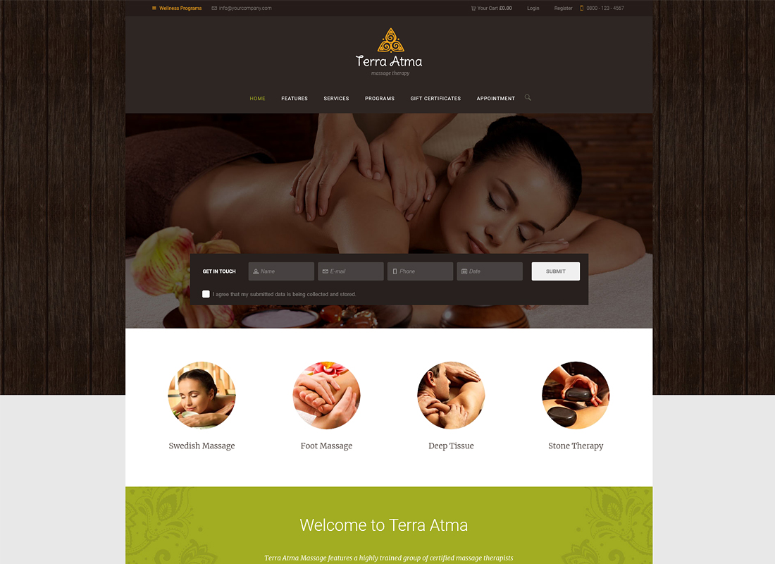 Terra Atma | Spa & Massage Salon WordPress Theme