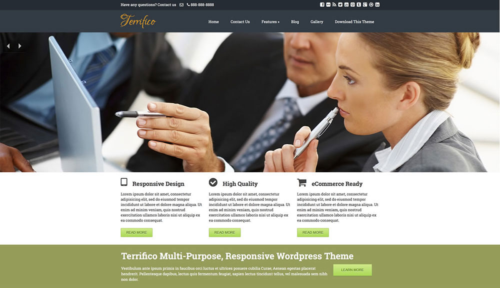 terrifico WordPress theme