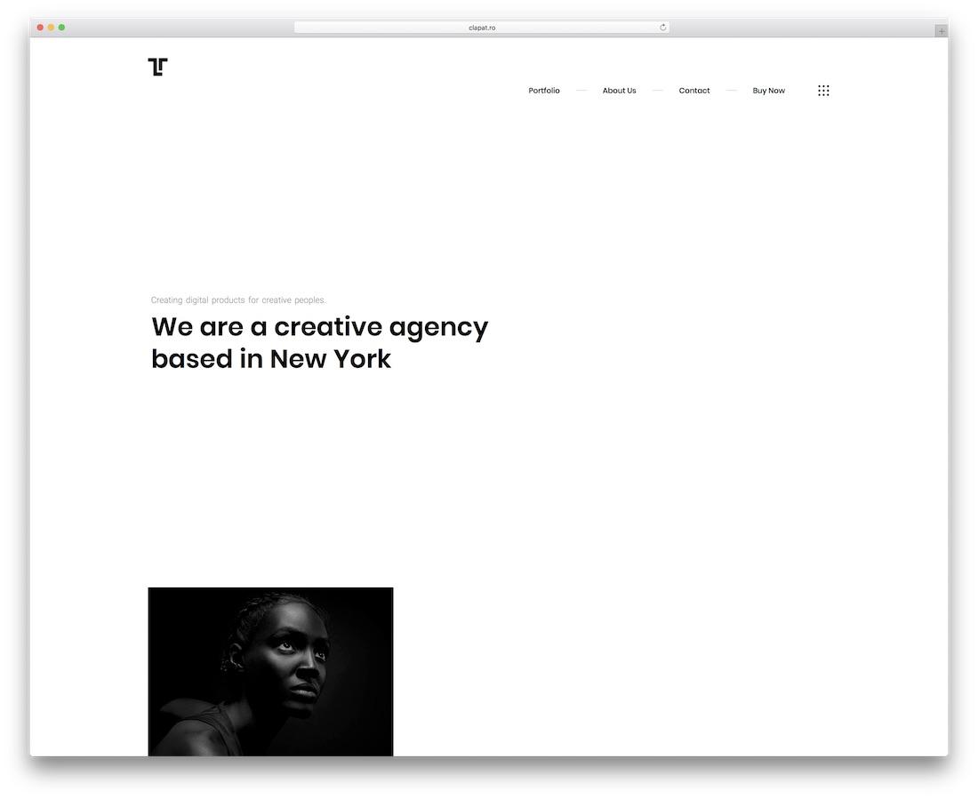 tetris minimal website template