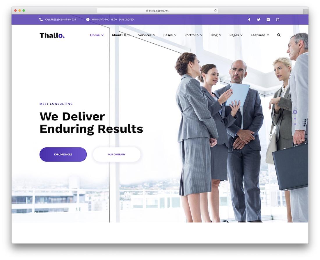 thallo consulting wordpress theme