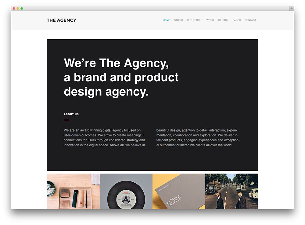 the agency - creative portfolio theme