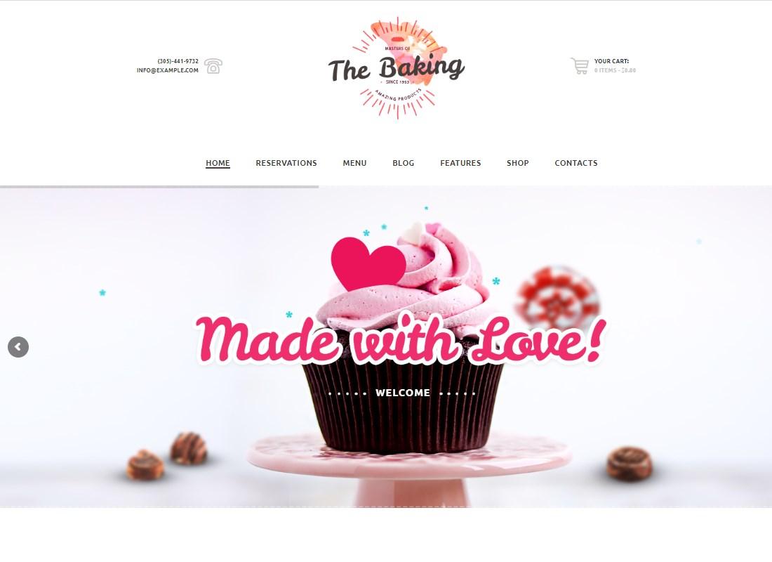The Baking | Bakery / Cake Shop / Cafe WordPress Theme