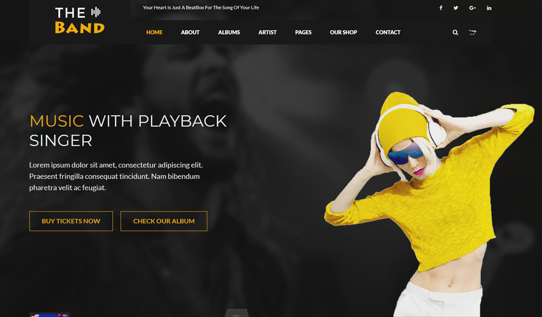 the-band-bootstrap-music-templates