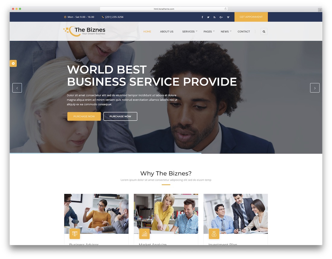 28 best consulting website templates 2018 colorlib the business consulting website template friedricerecipe Images