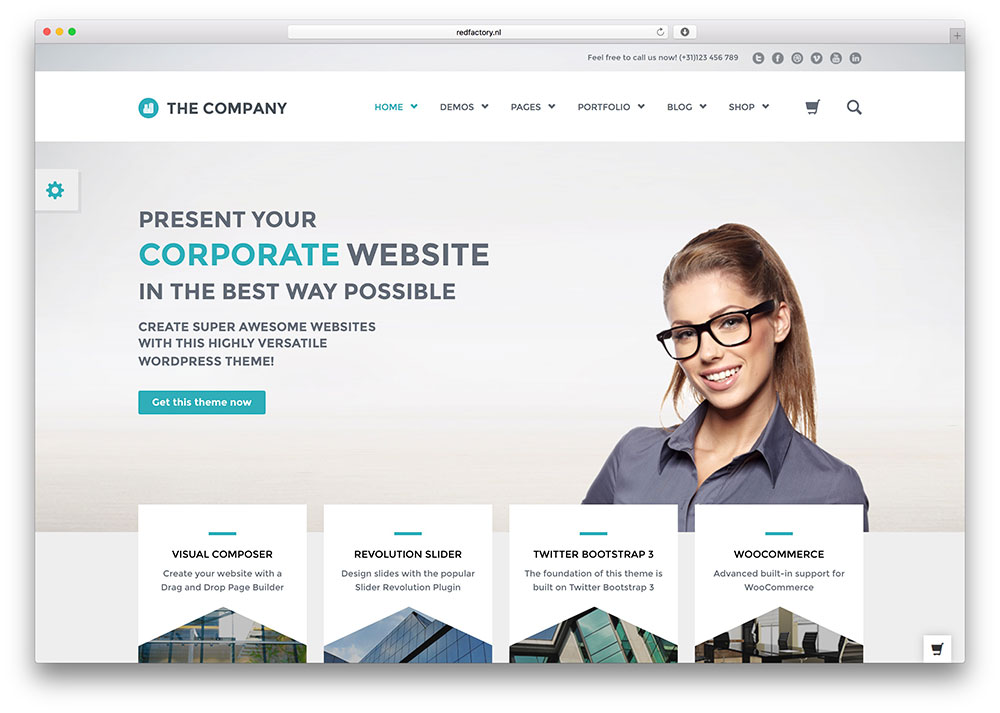 Company WordPress Themes 40+ Best WordPress Corporate Business Themes of 2017 - colorlib