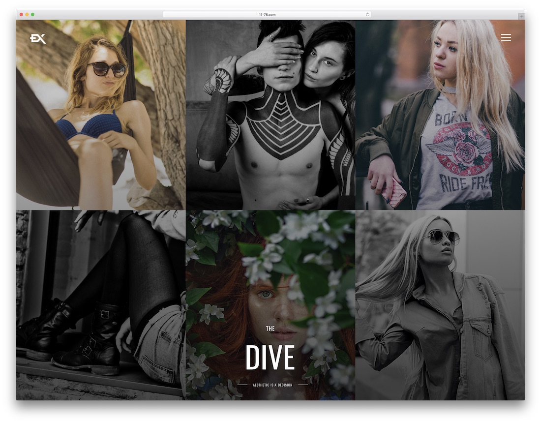 the dive artist website template