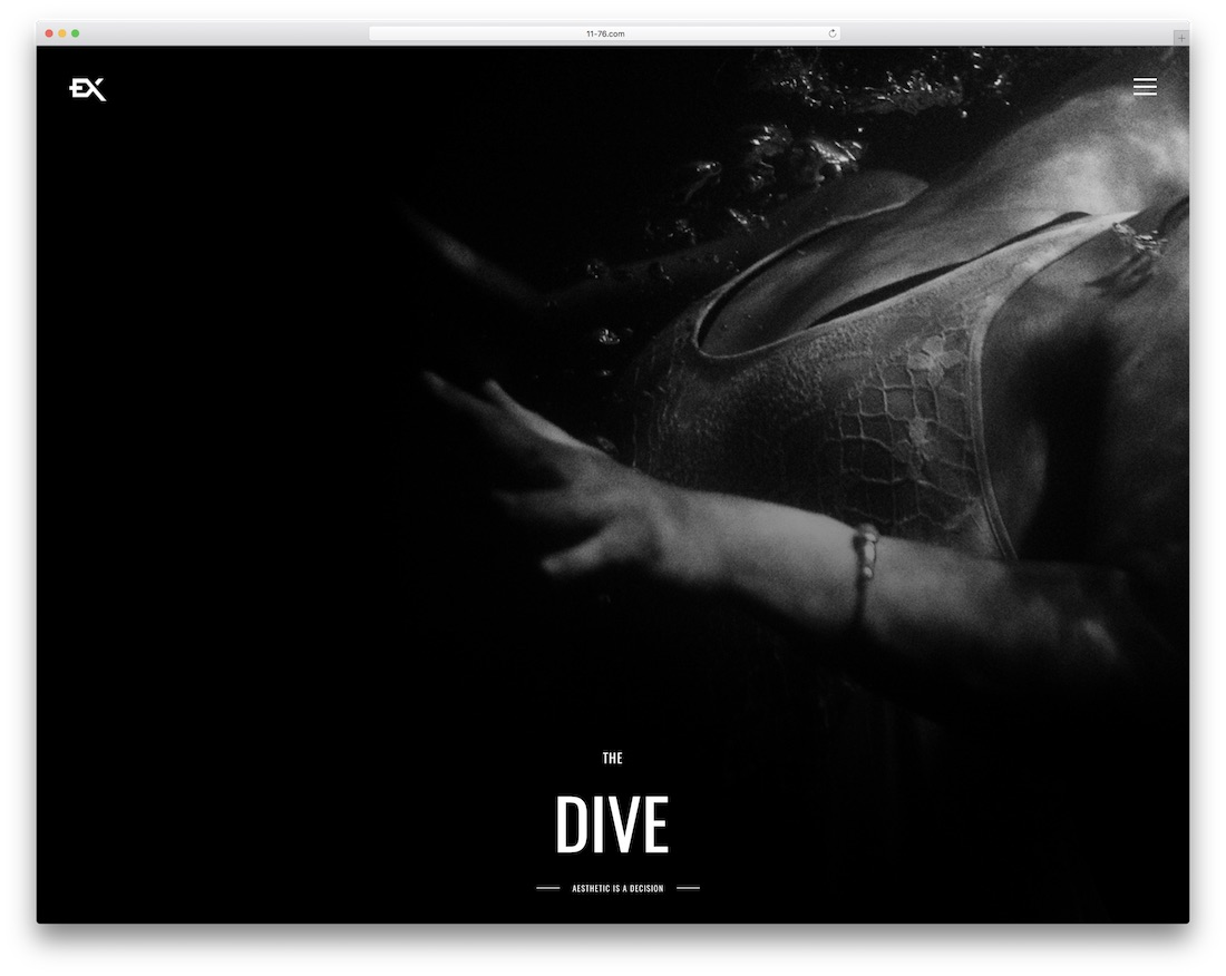 the dive gallery website template