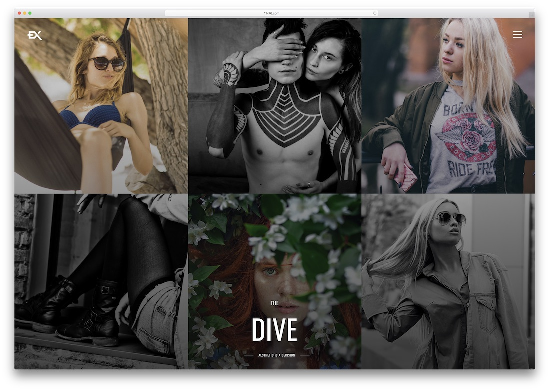 the dive photography website template