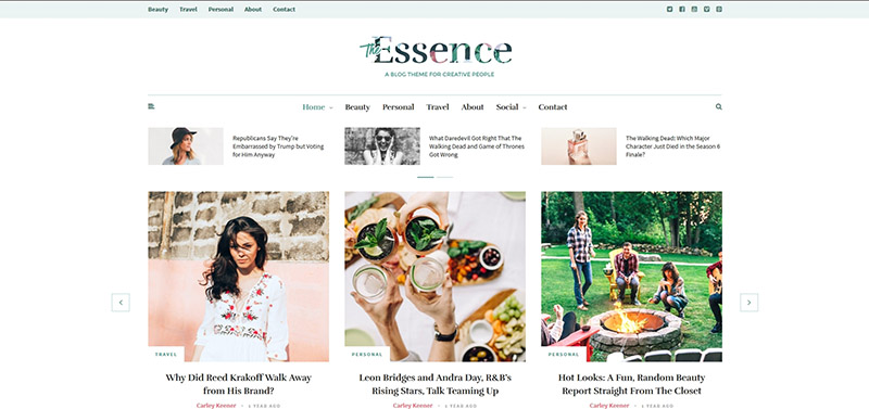 The Essence - A Responsive WordPress Blog Theme