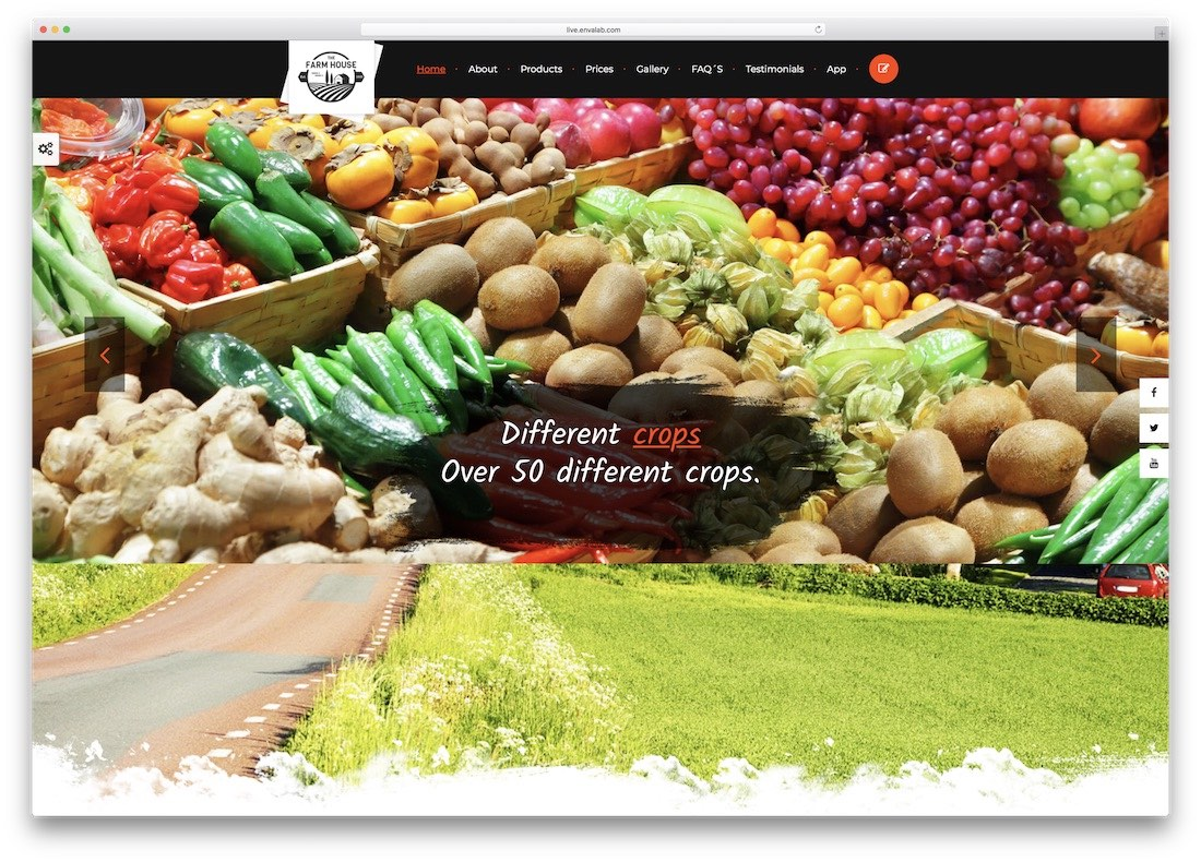 the farm house html5 website template