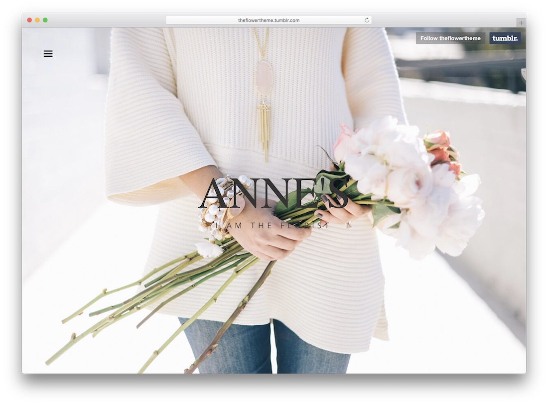 the florist tumblr theme