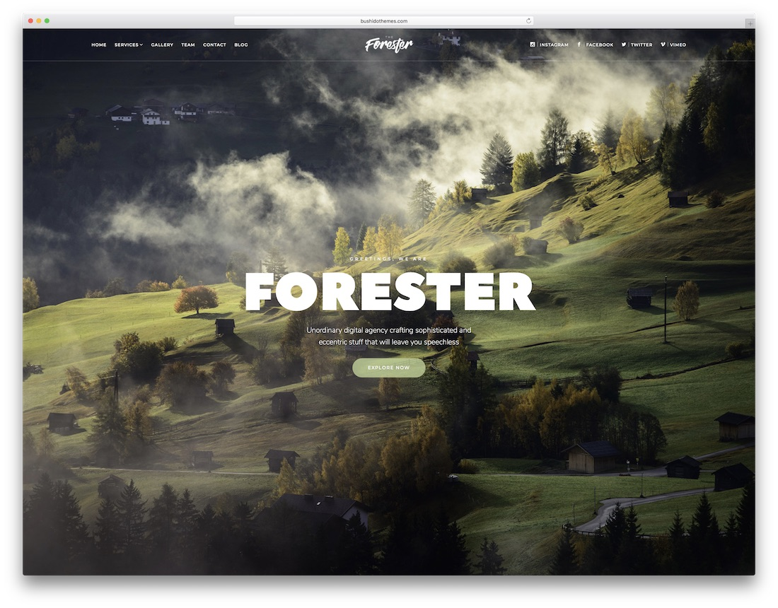 the forester designer website template
