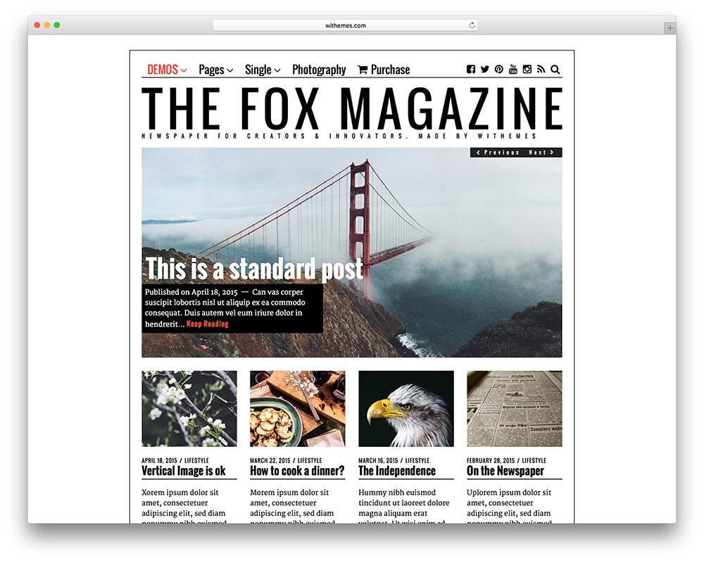 the-fox-magazine-theme-for-creative-bloggers