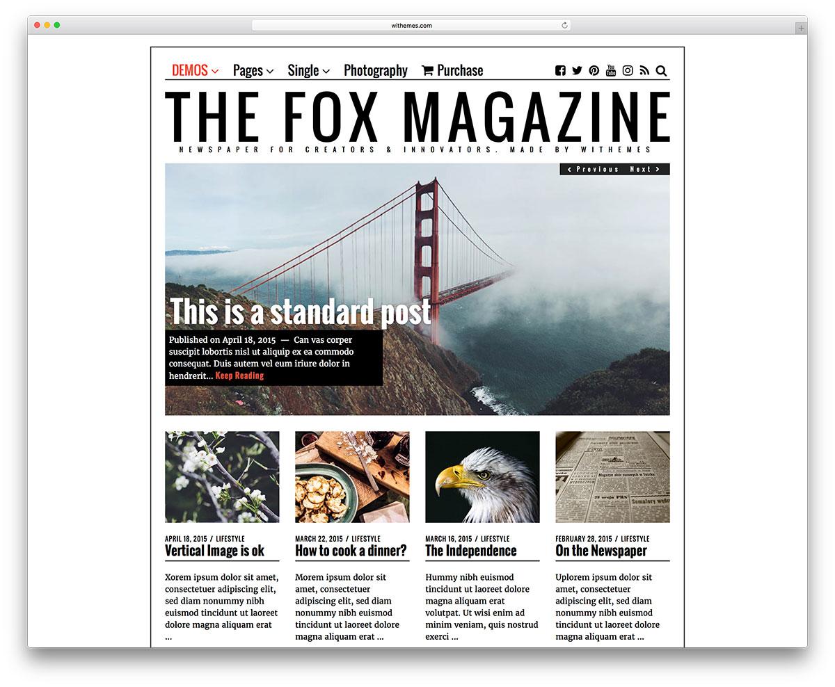the-fox-minimal-magazine-wordpress-theme