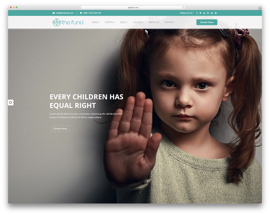 the fund website template