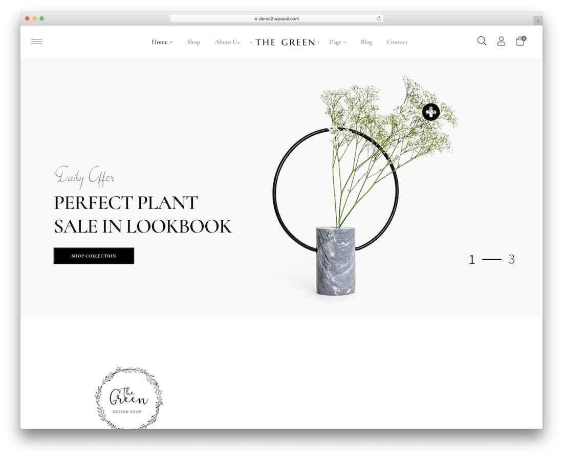 the green flower website template
