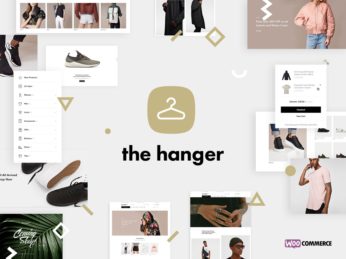 purchase cheap 96c32 15ce3 The Hanger is one of the best eCommerce WordPress themes that quickly  adapts to your project needs. The clean and minimal look it sports is easy  to alter to ...