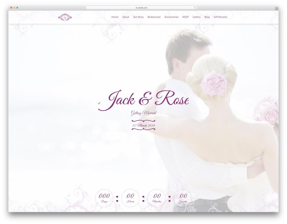 the heart html wedding website template