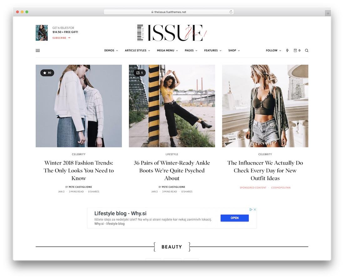 the issue best news wordpress theme