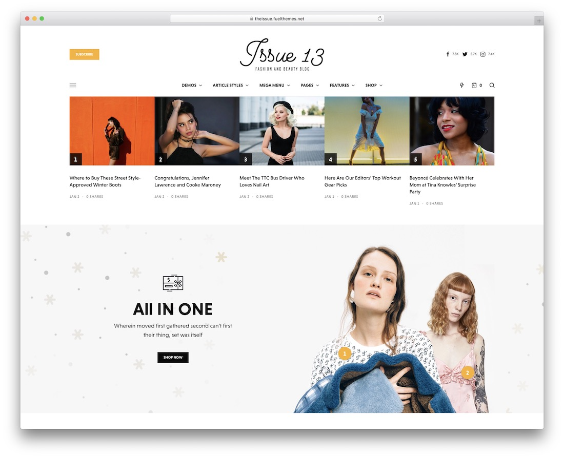 the issue blog website template