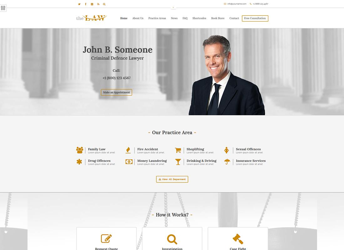 The Law | Lawyer Legal Attorney WordPress Theme + RTL