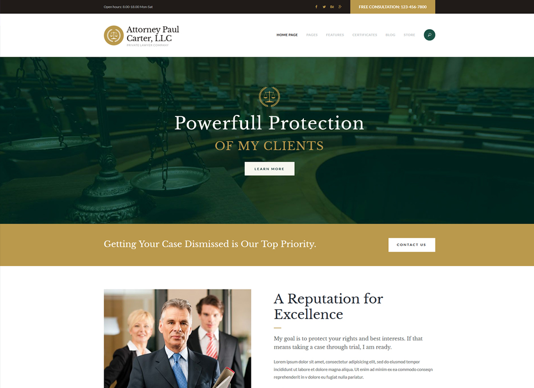 The Law | A Classic Legal Advisers & Attorneys WordPress Theme