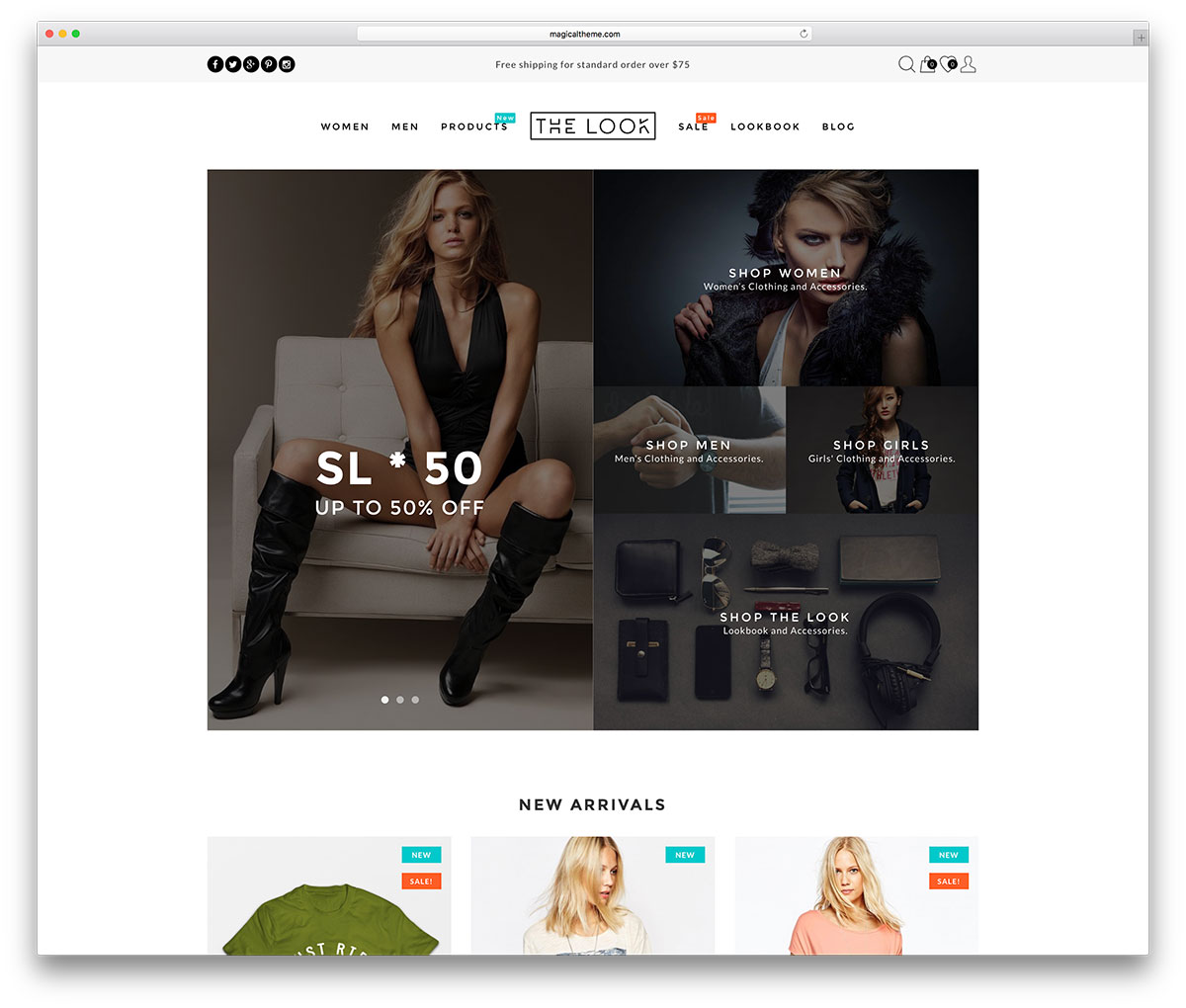 the-look-clean-woocommerce-website-template