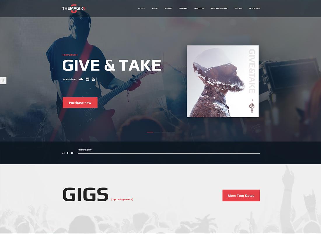 The Magic 6   Music Band & Musician WordPress Theme