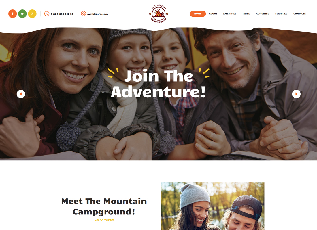 The Mounty - Campground & Camping WordPress Theme