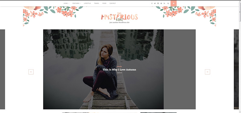 The Mysterious Girl - Feminine Style WordPress Blog Theme