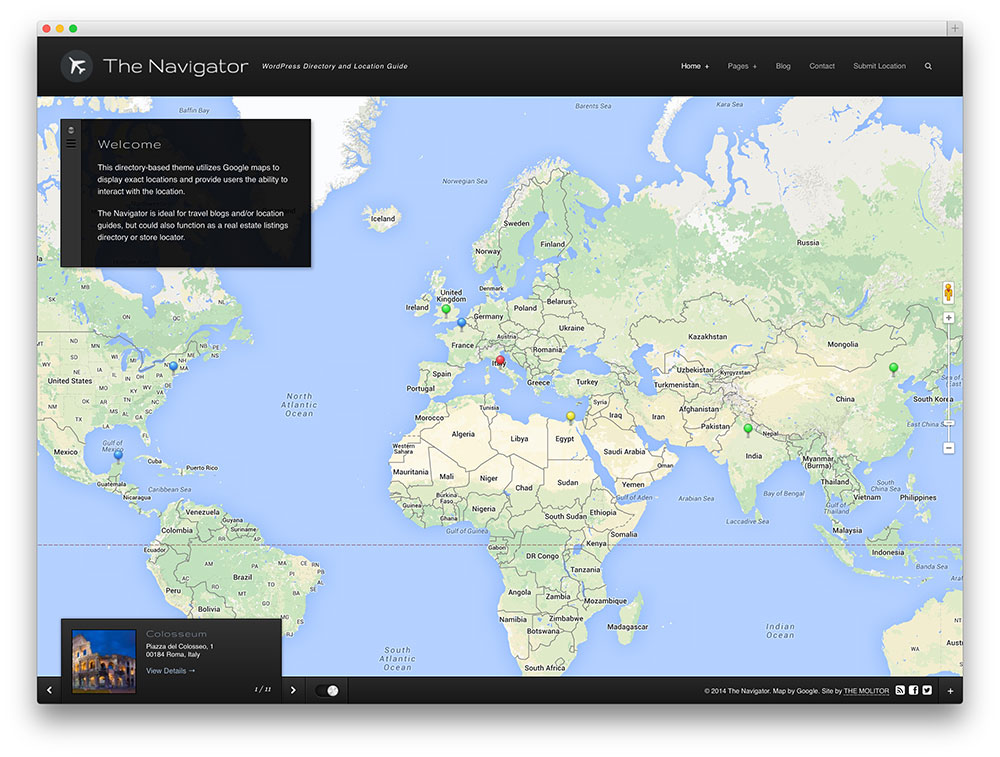 the navigator location based directory