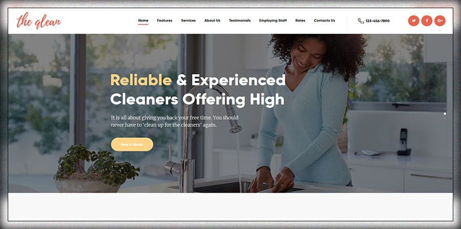The Qlean | Cleaning Company WP Theme
