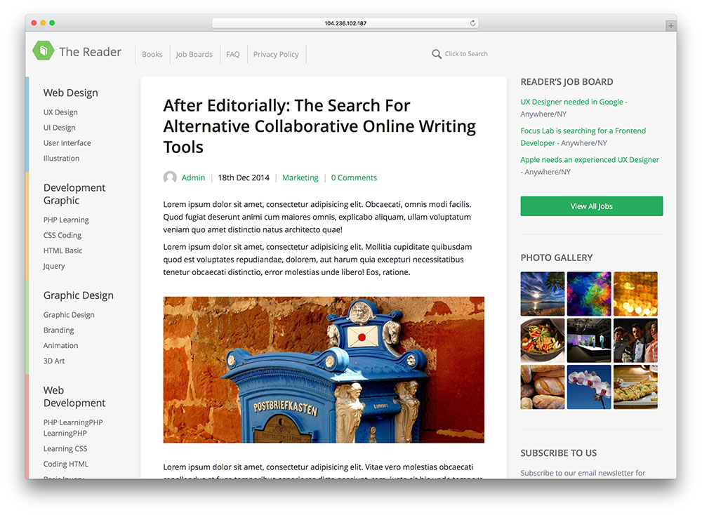 the-reader-minimal-wordpress-blog-theme