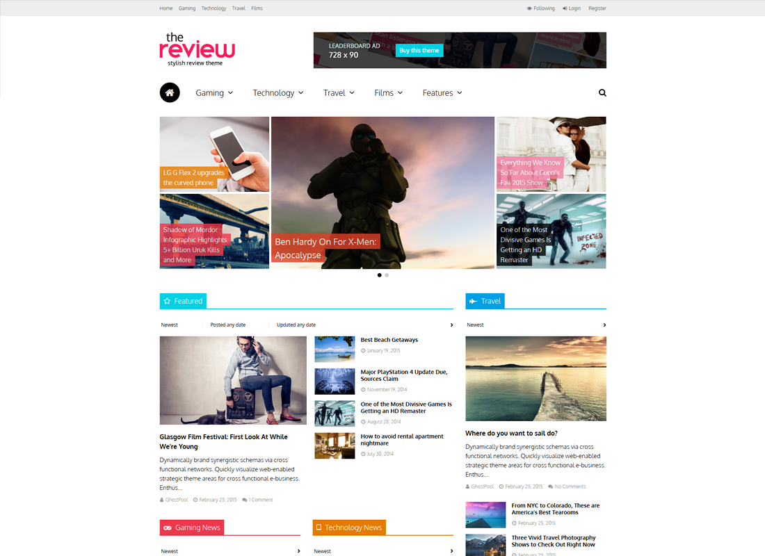 The Review | Multi-Purpose Review & Magazine WordPress Theme