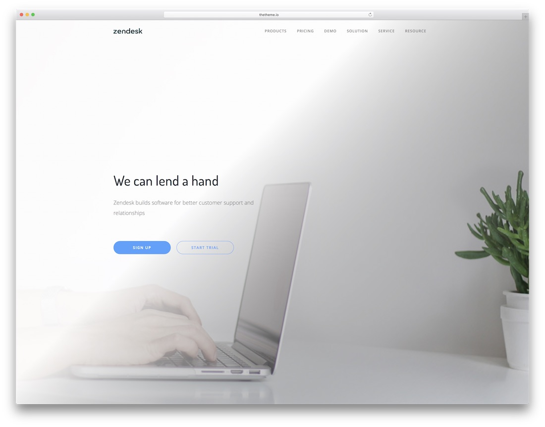 the saas mobile friendly website template