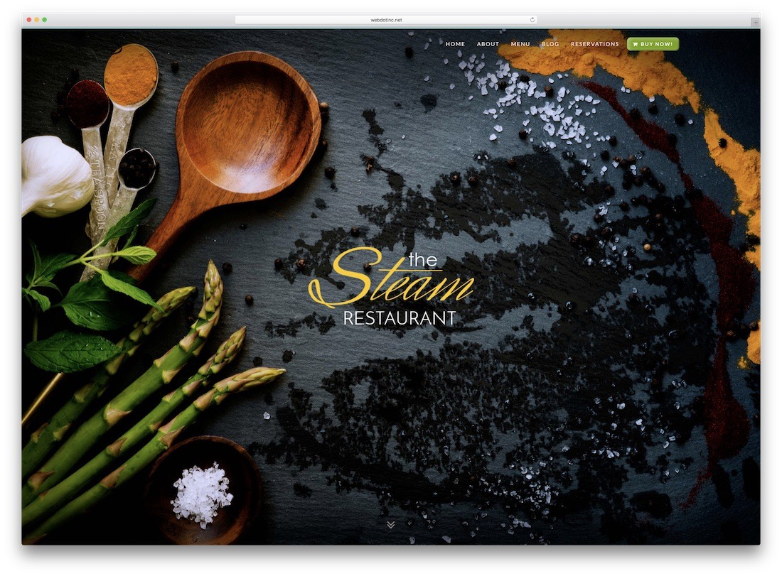 the steam responsive catering wordpress theme