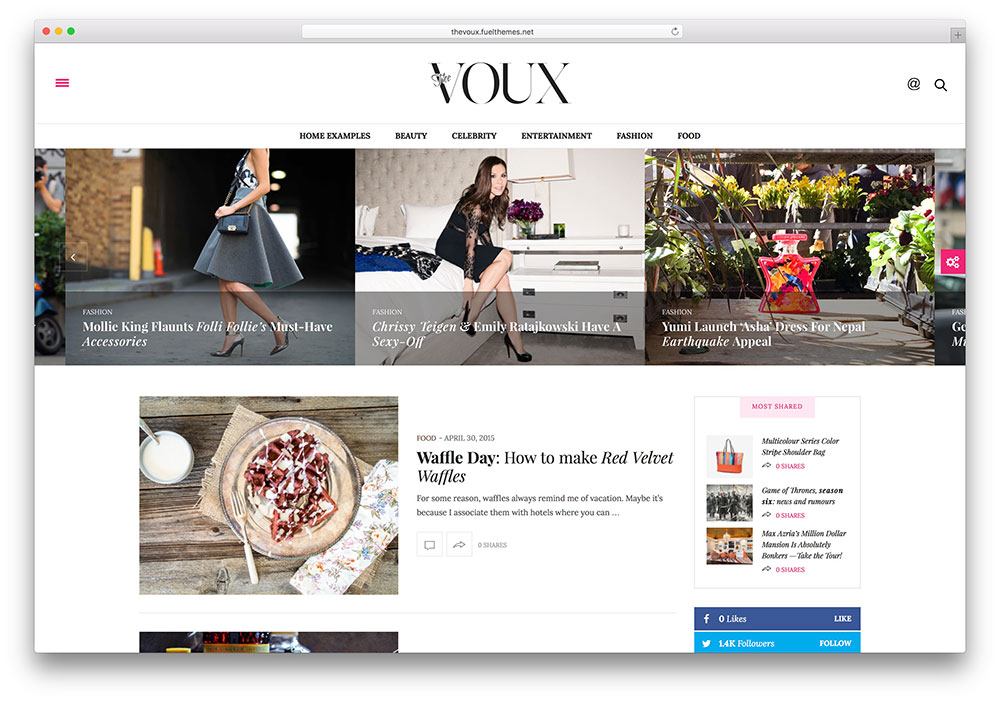 the voux clan magazine theme