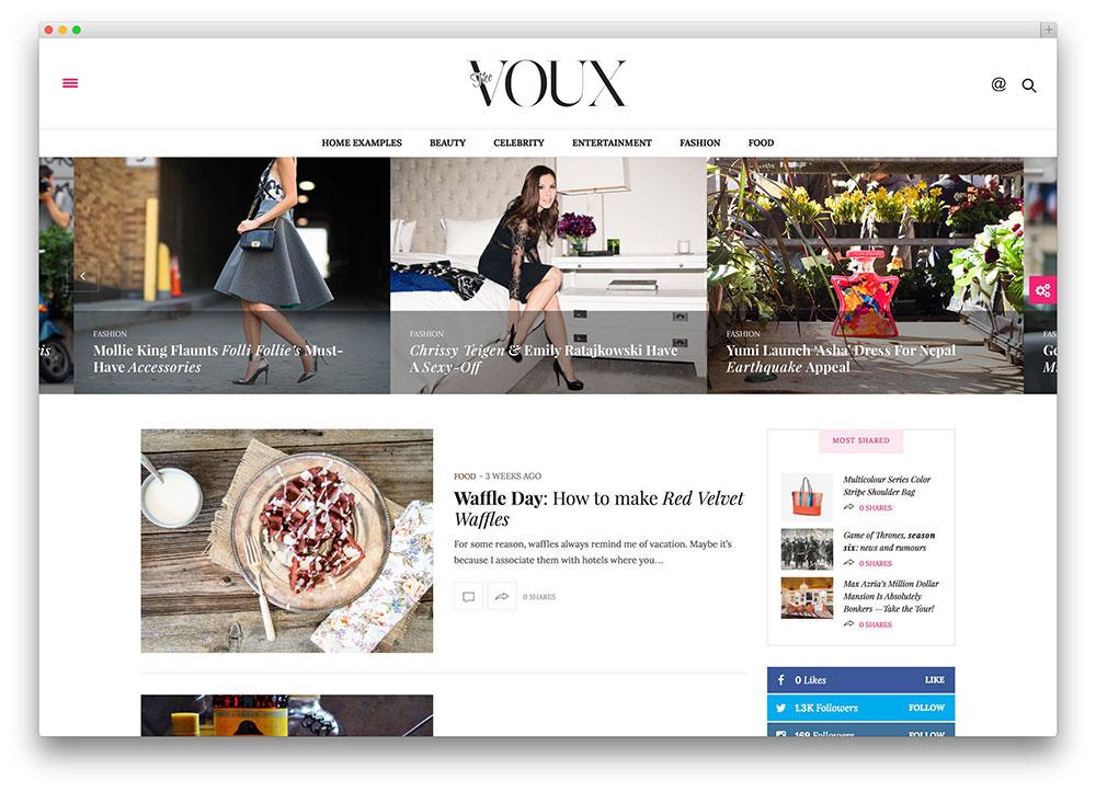 the voux - fashion blogging theme