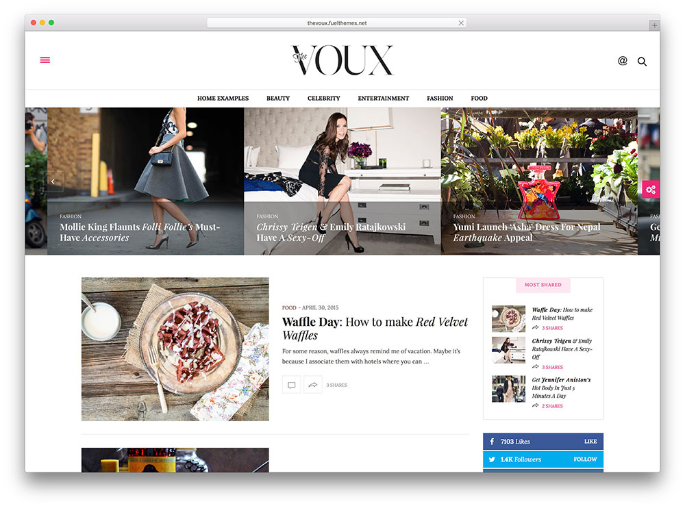 the voux - feminine magazine theme