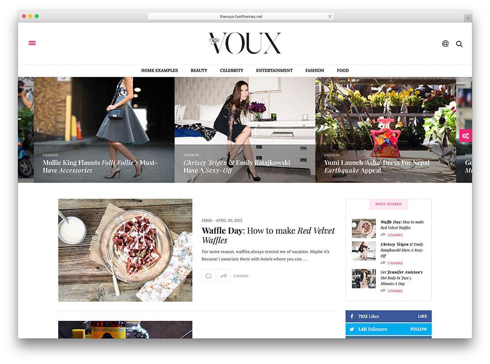 the voux - feminine magazine theme