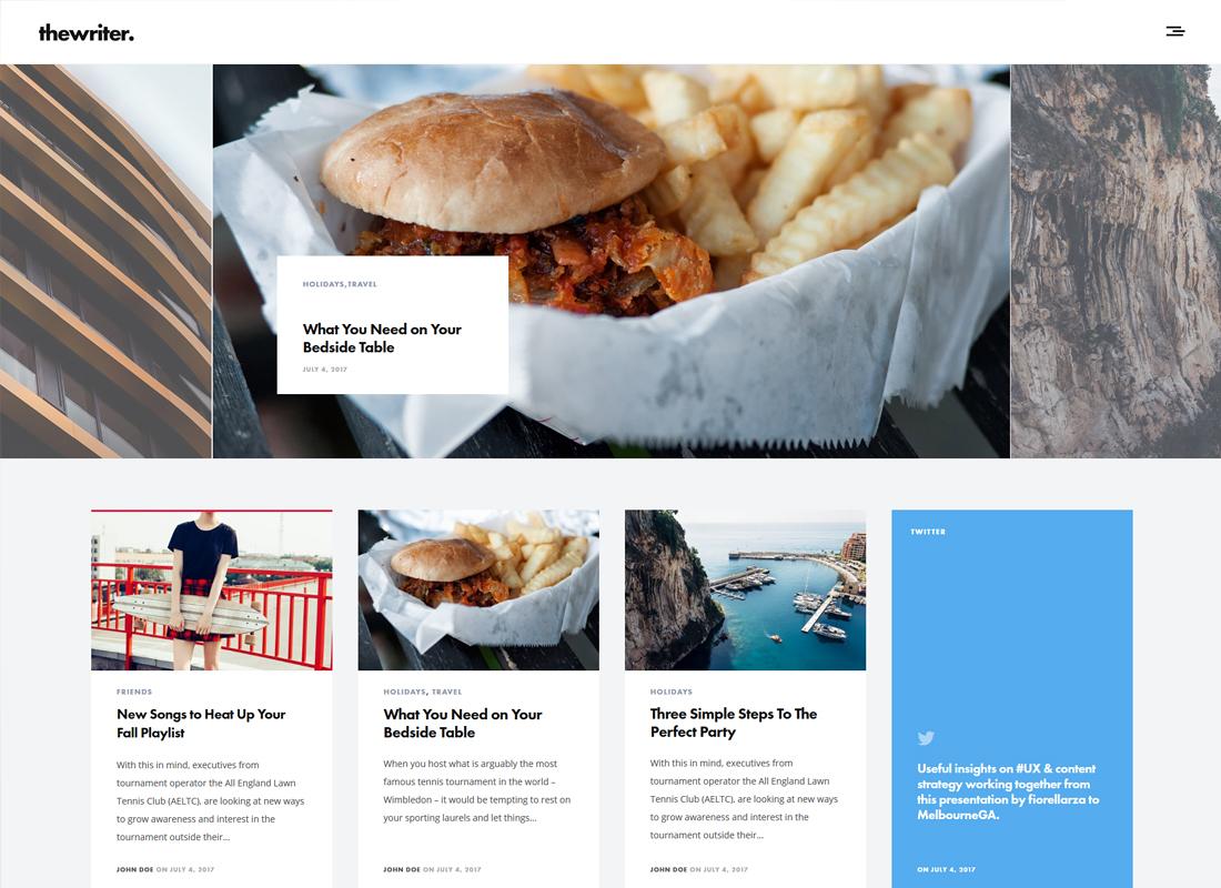 The Writer | Modern Blog WordPress Theme