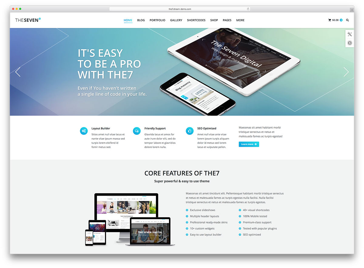 The7 Creative Flat Design Multipurpose Theme