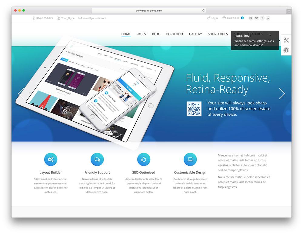the7 - iOS9 inspired wordpress theme