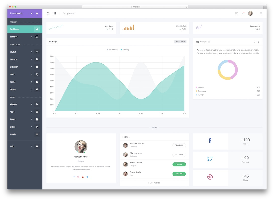 31 Best Bootstrap 4 Admin Templates For Web Apps 2019 - Colorlib