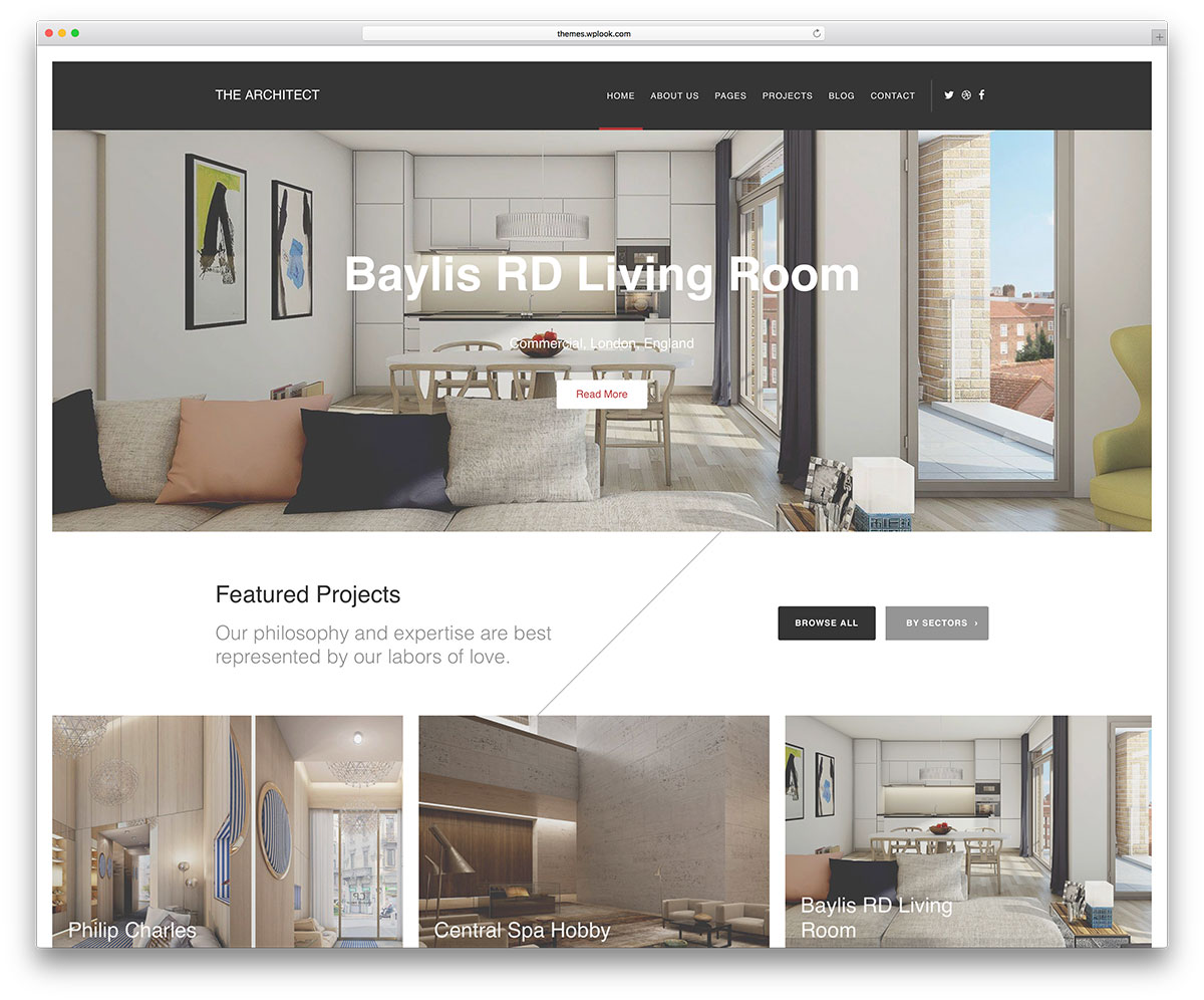 Best wordpress themes for architects and architectural for Architect website design