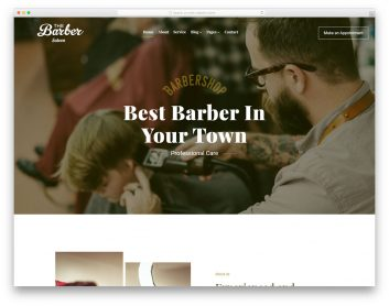 Thebarber Free Template